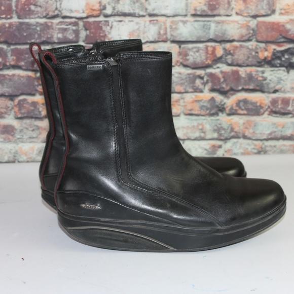 7d199f9de44 MBT Leather Comfort Orthopedic Boots Size 10-10.5